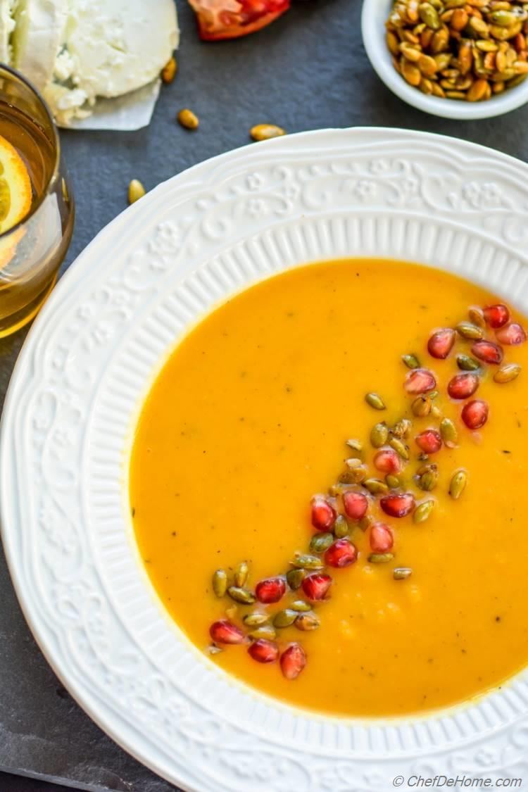 Roasted Butternut Squash Soup | chefdehome.com