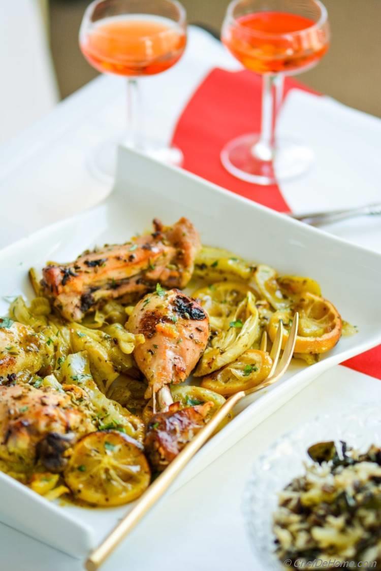 Roasted Chicken alla Limoncello