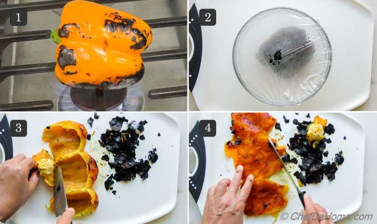 How To Roast Peppers on Stove Top