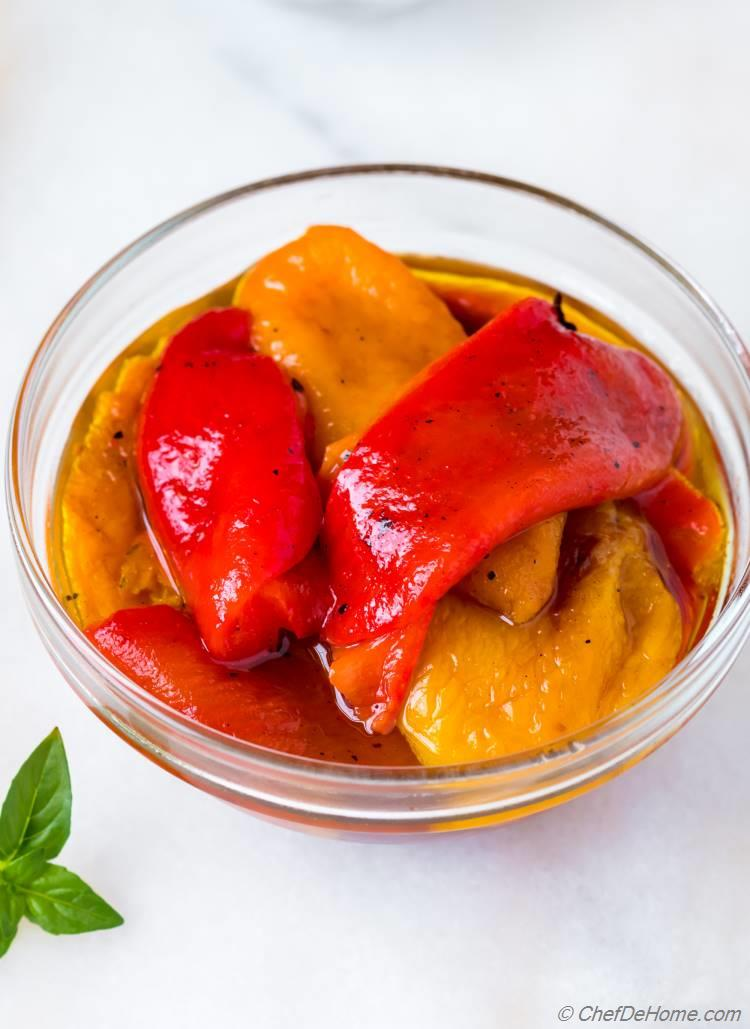 Roasted Peppers in Olive Oil