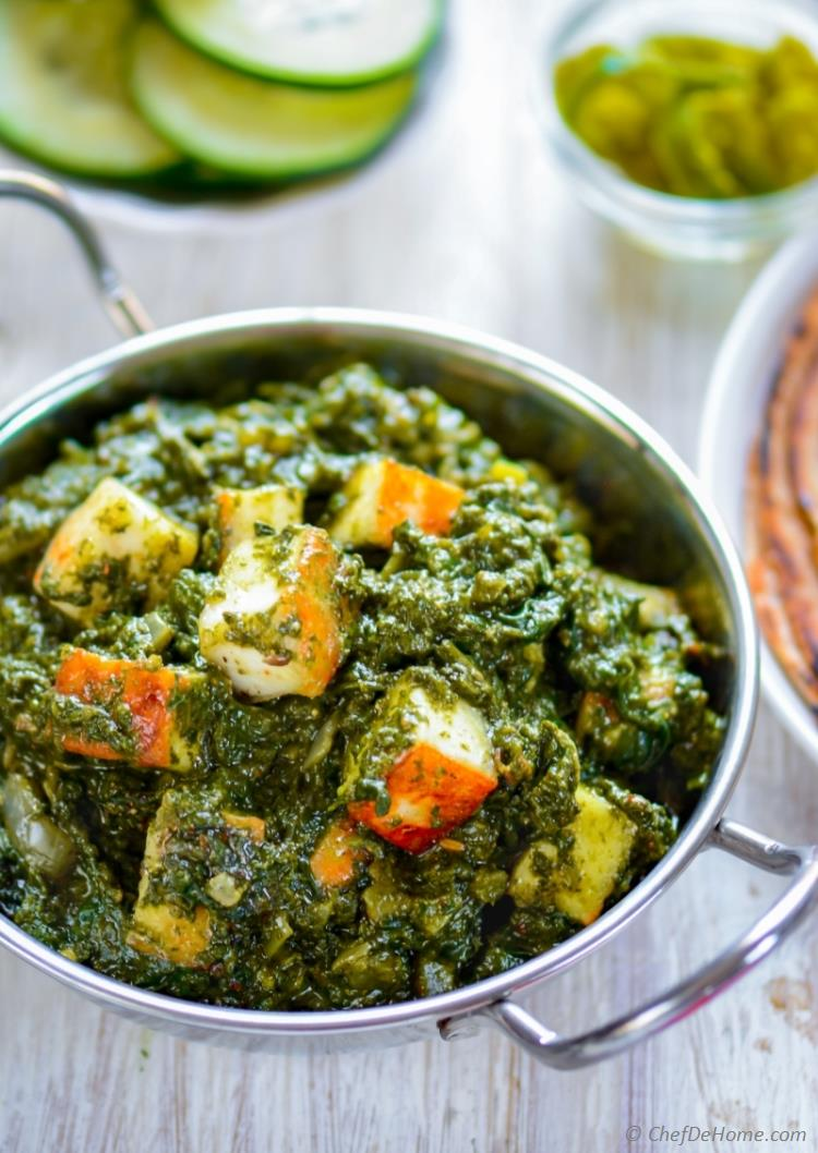 Easy Restaurant style Indian saag paneer | chefdehome.com