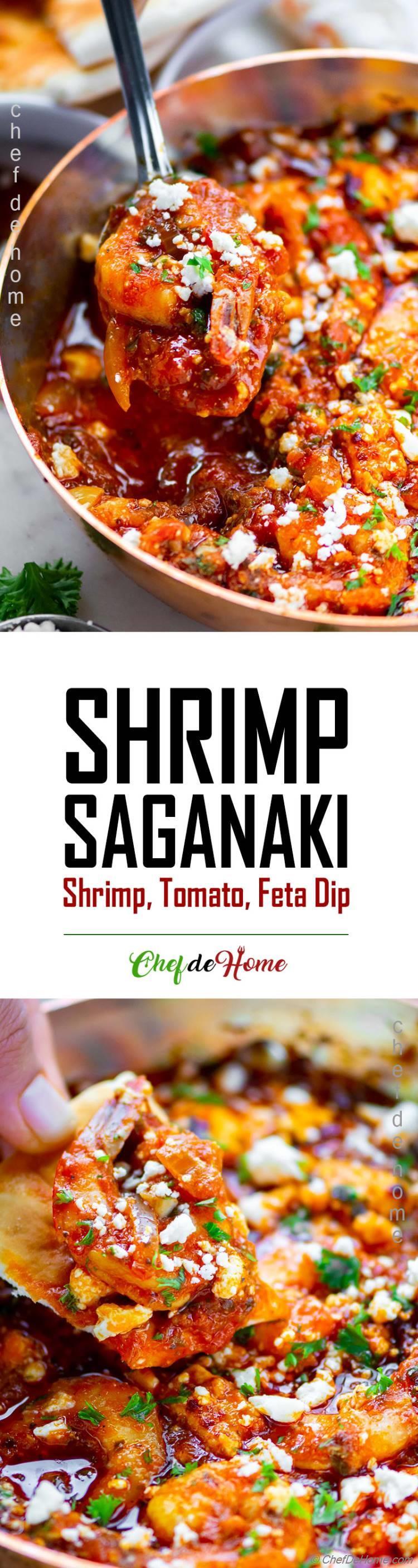 Shrimp Tomatoes and Feta Dip