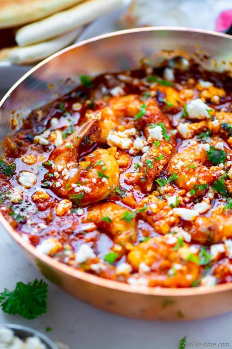 Shrimp Saganaki Recipe