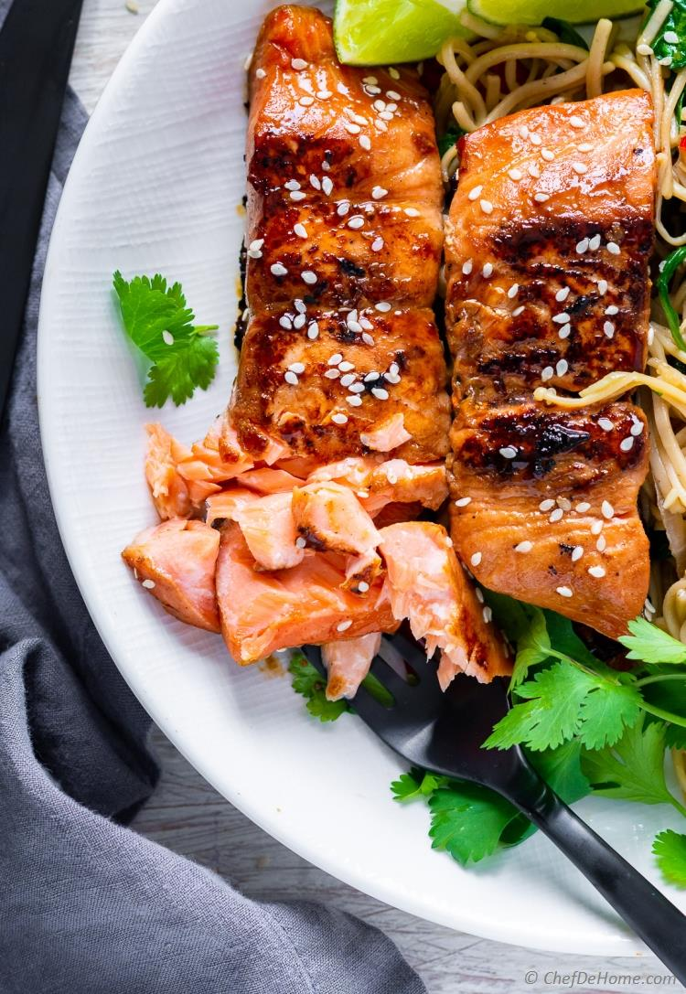 Flaky Salmon Teriyaki