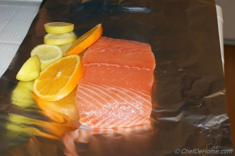 Salmon with Citrus and Thyme