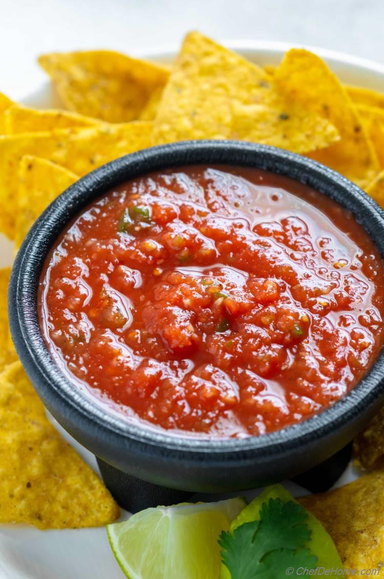 Red Salsa recipe made with tomatoes