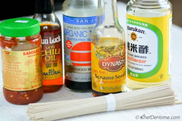 Easy Ingredients for Sesame Chili Garlic Noodles | chefdehome.com