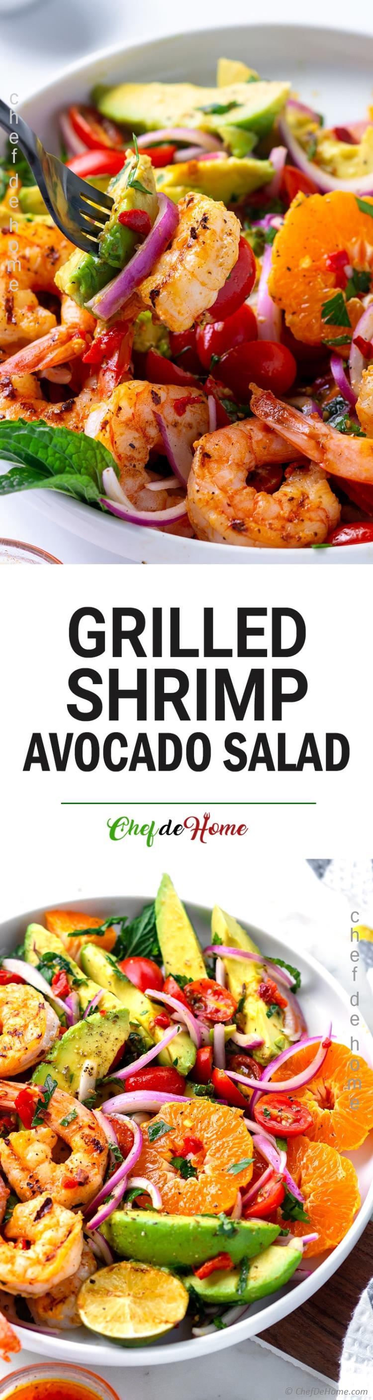 Best ever Grilled Shrimp Salad