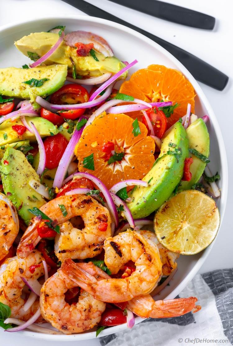 Shrimp Avocado Tomato Salad Recipe