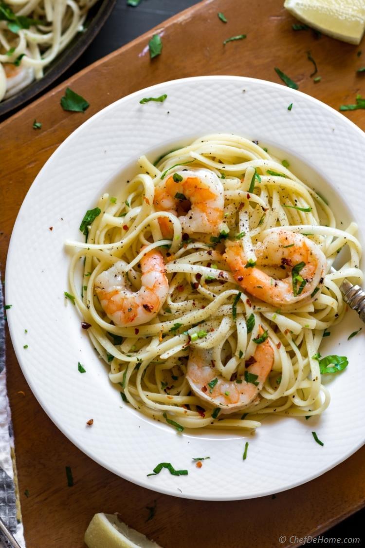 Garlic Shrimp Scampi Linguine