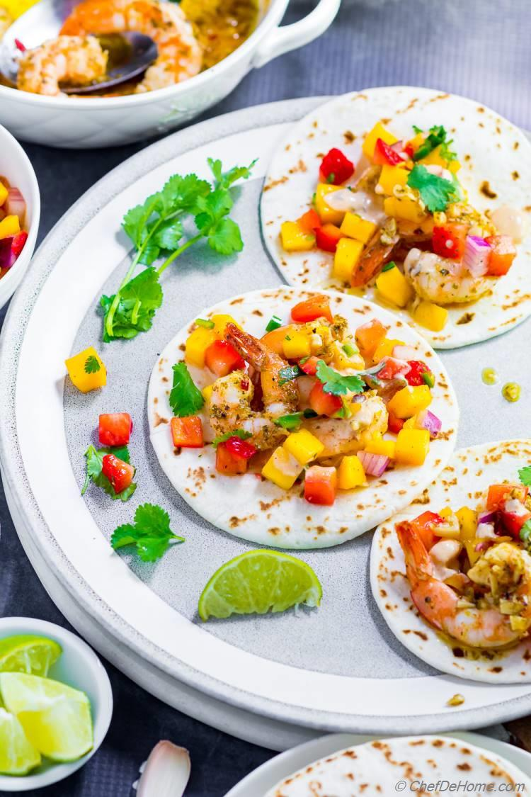 Learn how to make Shrimp Tacos with this easy shrimp taco recipe