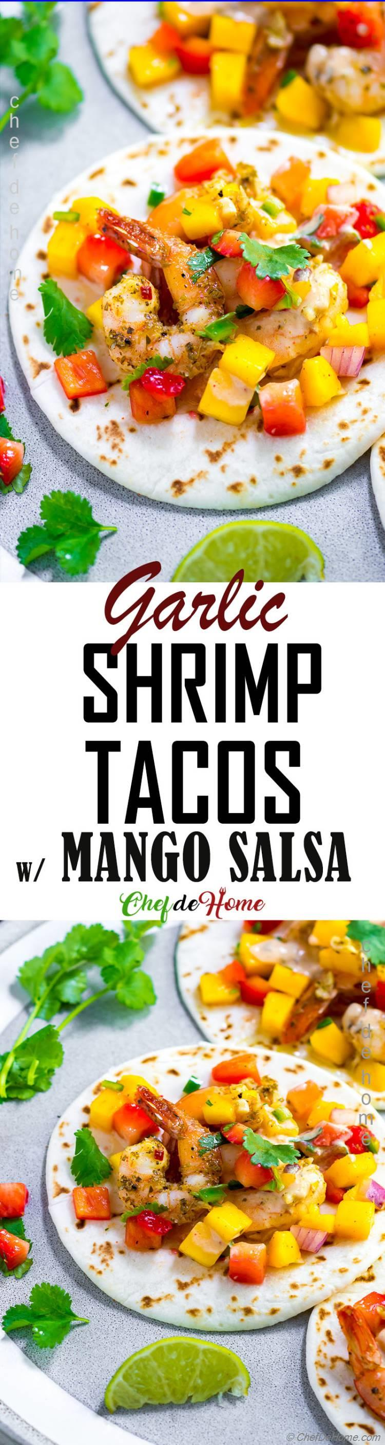 Easy Shrimp Tacos with perfect cooked shrimp and tips to perfect Shrimp Tacos