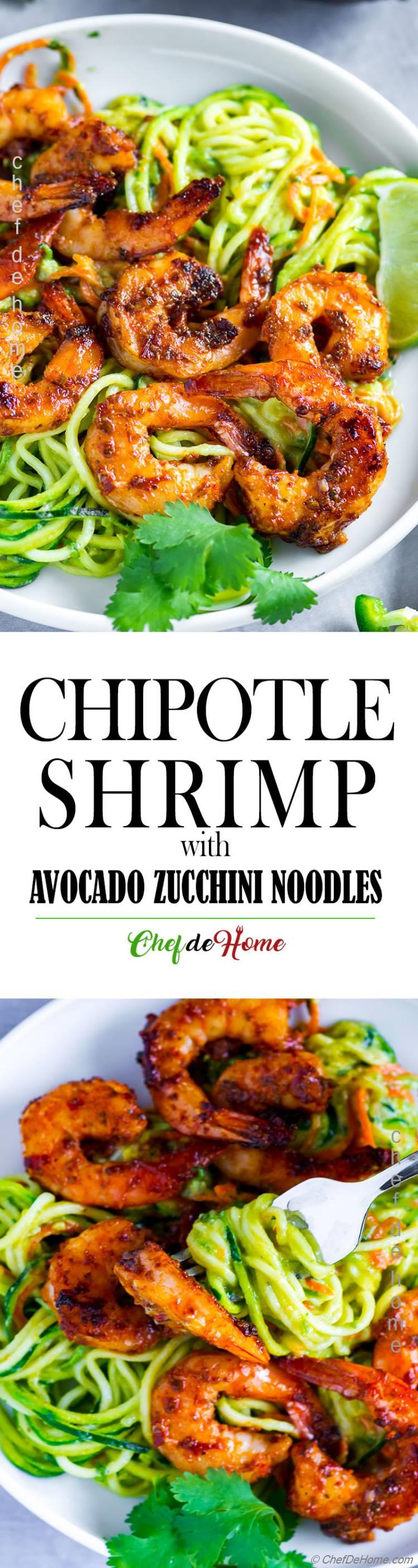 Spicy Shrimp with Avocado Sauce Pasta
