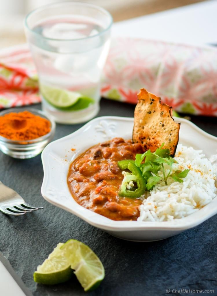 Indian Curry Beans Cooked in Slow Cooker Vegan and Gluten Free | chefdehome.com