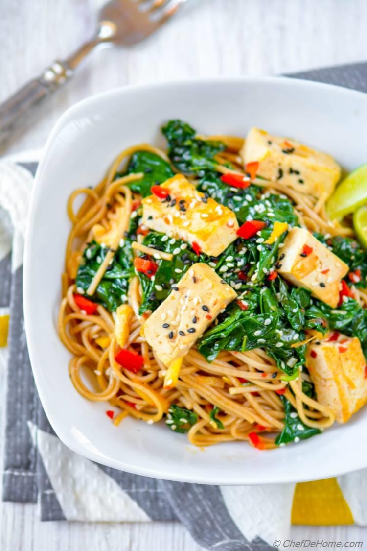 Buckwheat Soba Noodles with Coconut-Lime Tofu