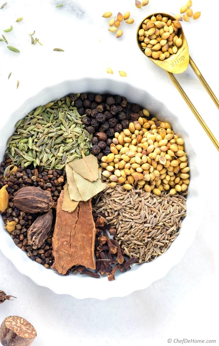 Garam Masala Spices Ingredients