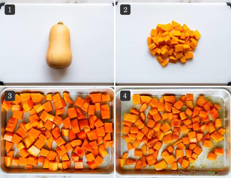 How To Roast Butternut Squash for Mac and Cheese