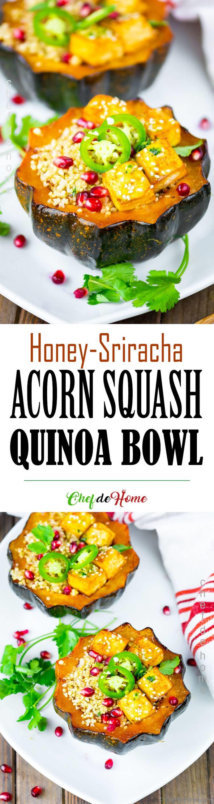 Roasted Acorn Squash Quinoa Bowl