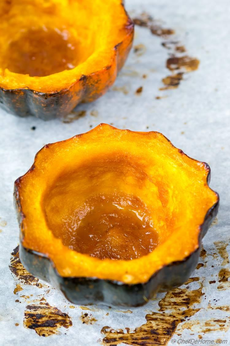 Glazed Roasted Acorn Squash