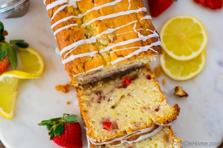 Made from scratch Strawberry Lemon Pound Cake