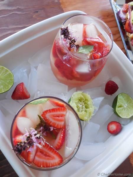 Strawberry Basil Litchi Mojito | chefdehome.com