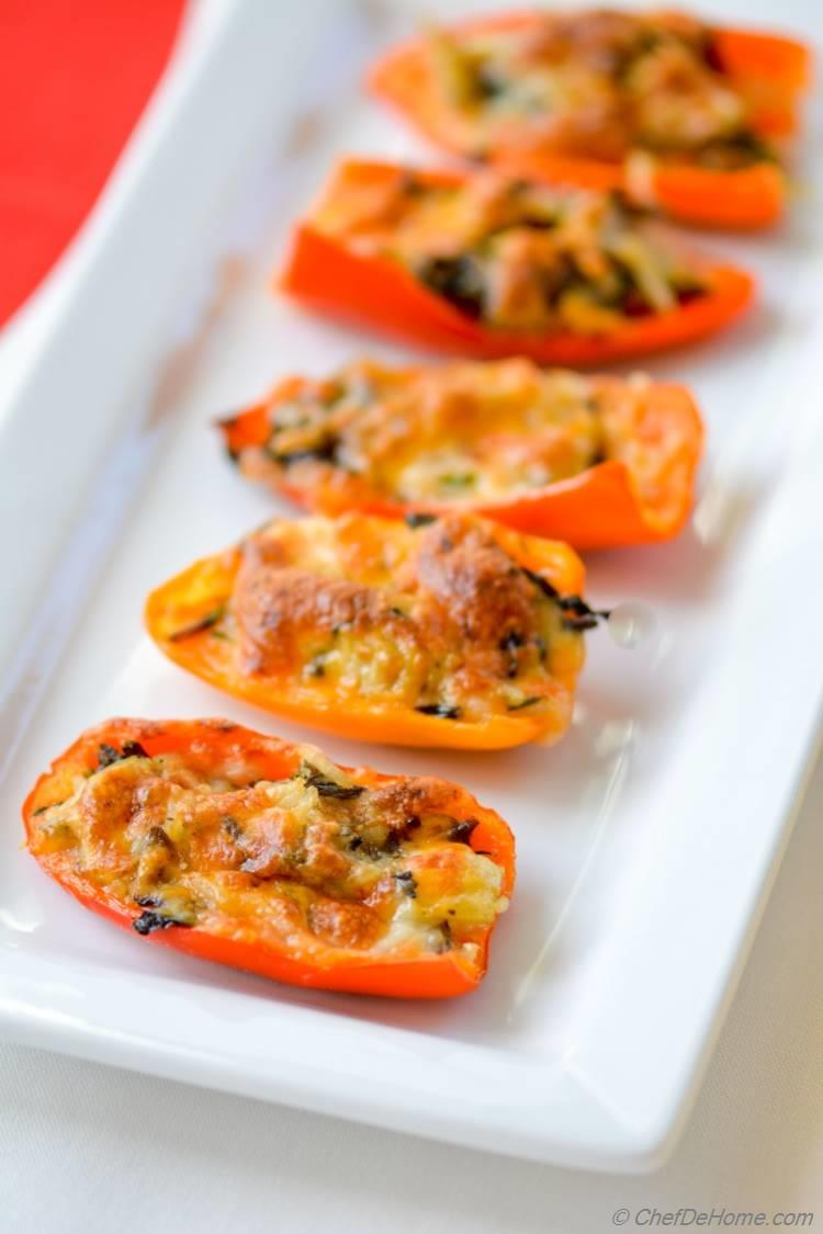 Leftover Turkey Stuffed Peppers