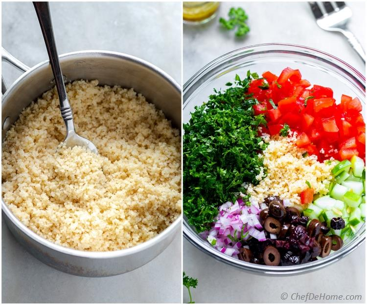 Homemade Tabbouleh Ingredients