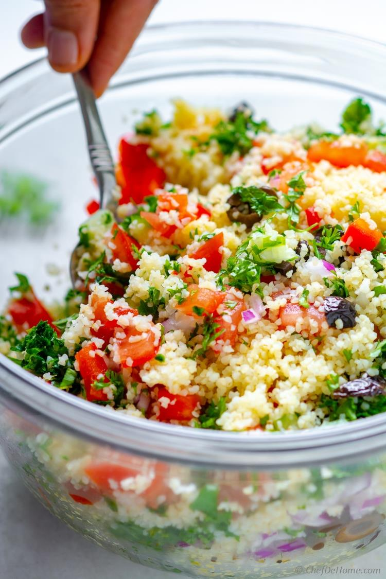 Tabbouleh Recipe made with Bulgur Wheat