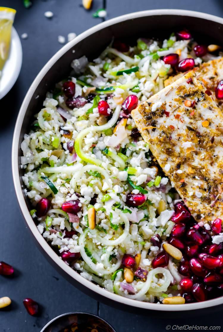 Cauliflower Tabouli Low Carb and Healthy