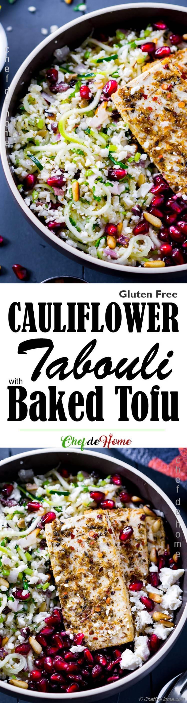 Cauliflower Low Carb Tabouleah Salad