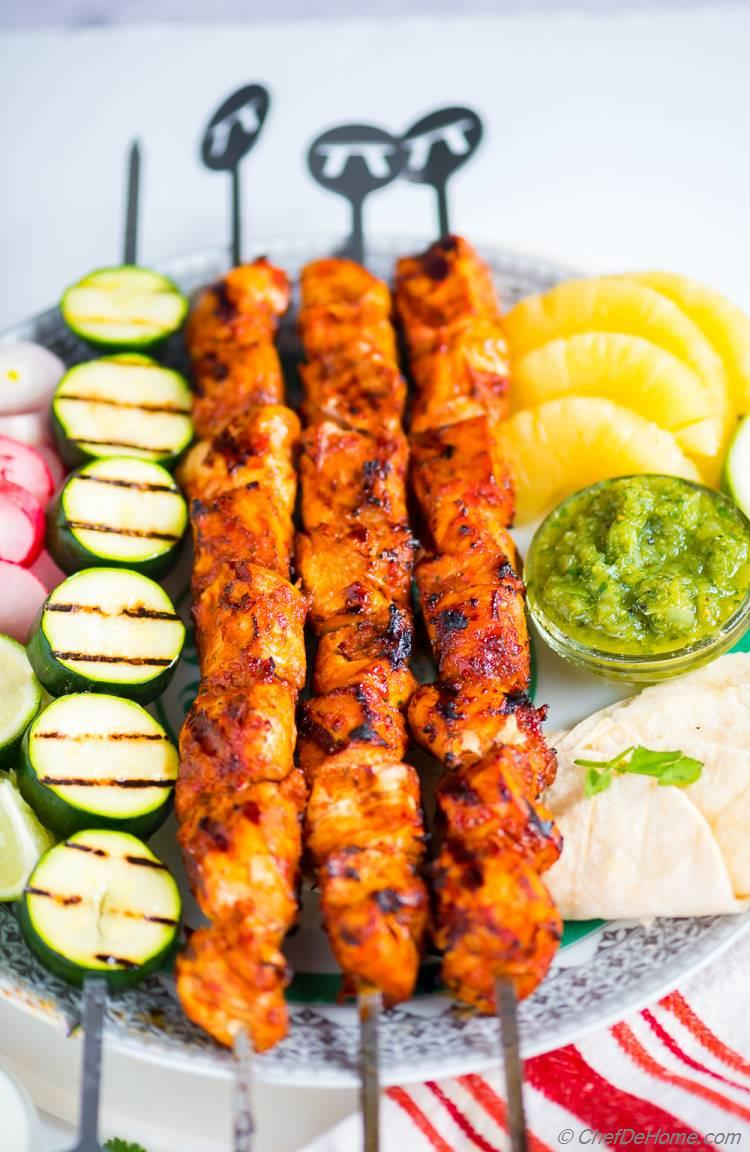 Grilled Chicken Al Pastor