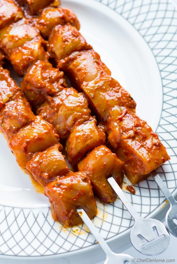 Chicken Al Pastor Skewers