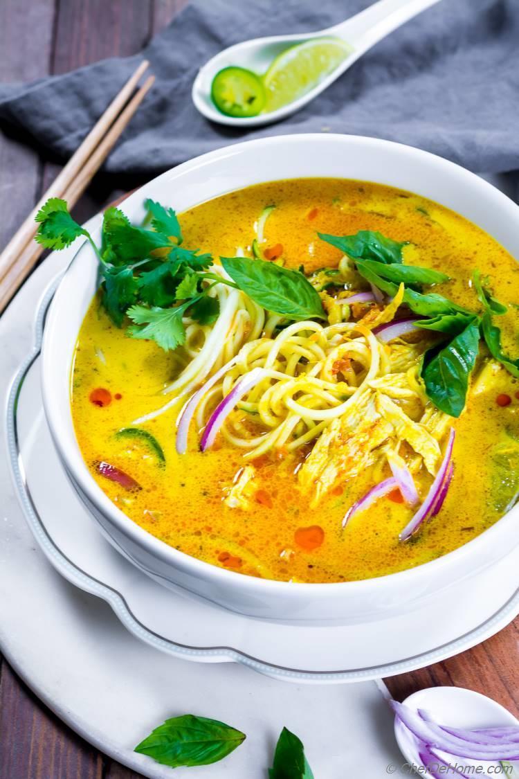 Bowl of Khao Soi Noodle Soup