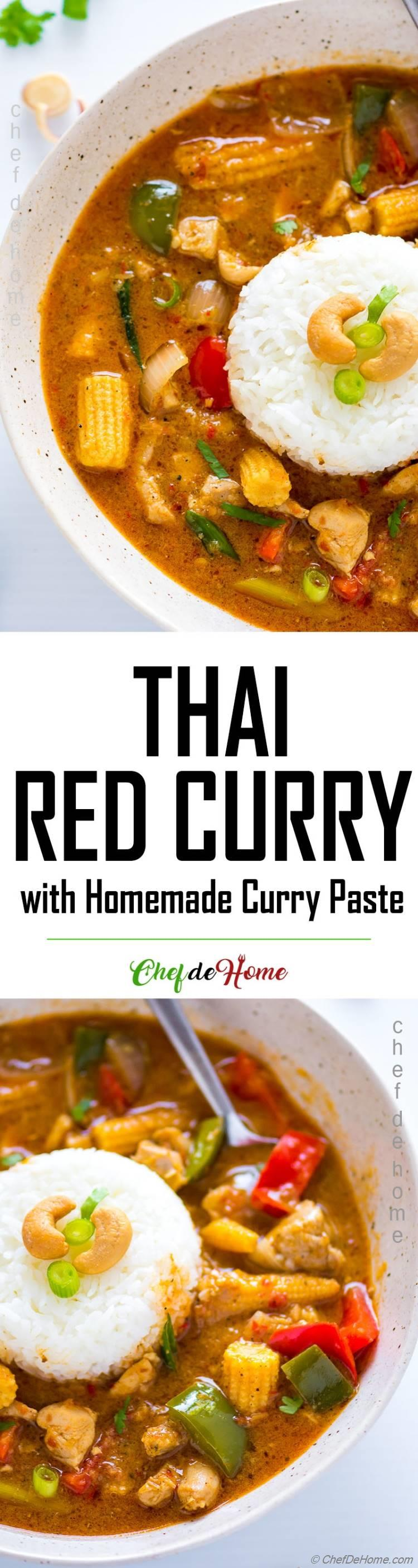 Thai Red Curry Recipe with Rice and Chicken