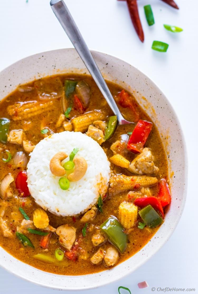 Easy Homemade Thai Red Curry Recipe | ChefDeHome.com