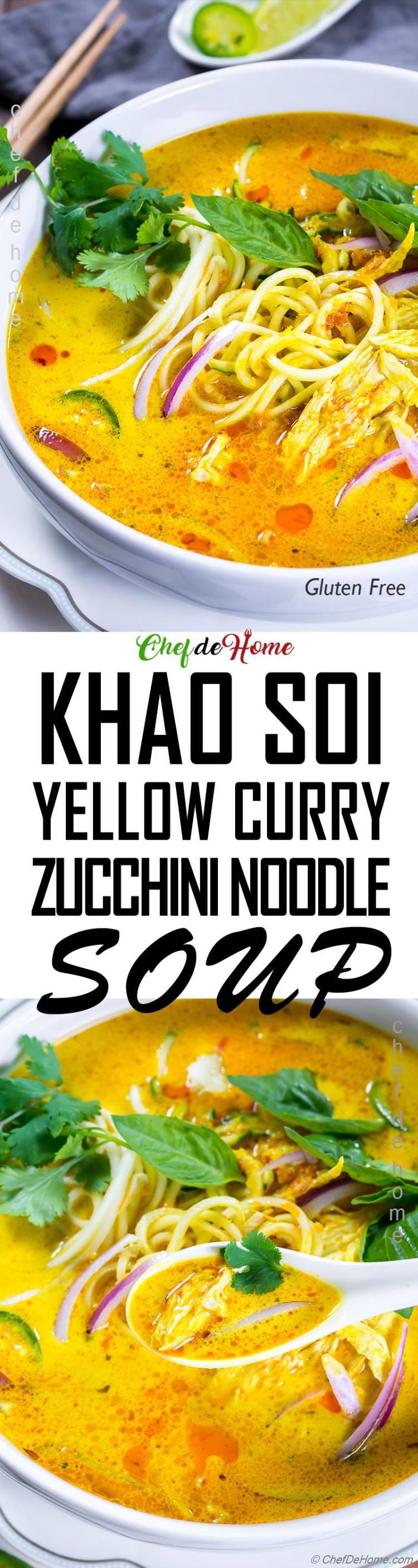 Thai Yellow Curry Soup with Zoodles