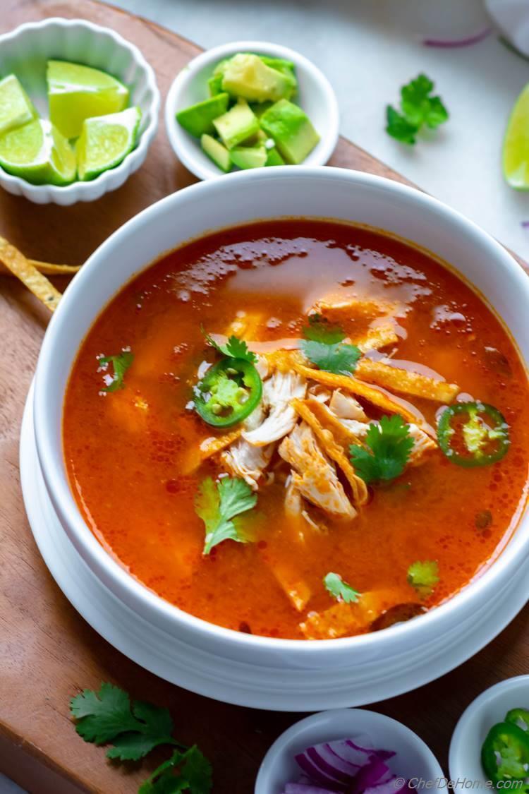 Tasty Chicken Tortilla Soup Recipe