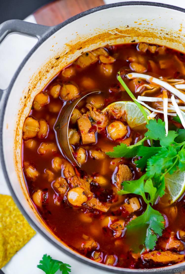 Leftover Turkey Soup with Posole