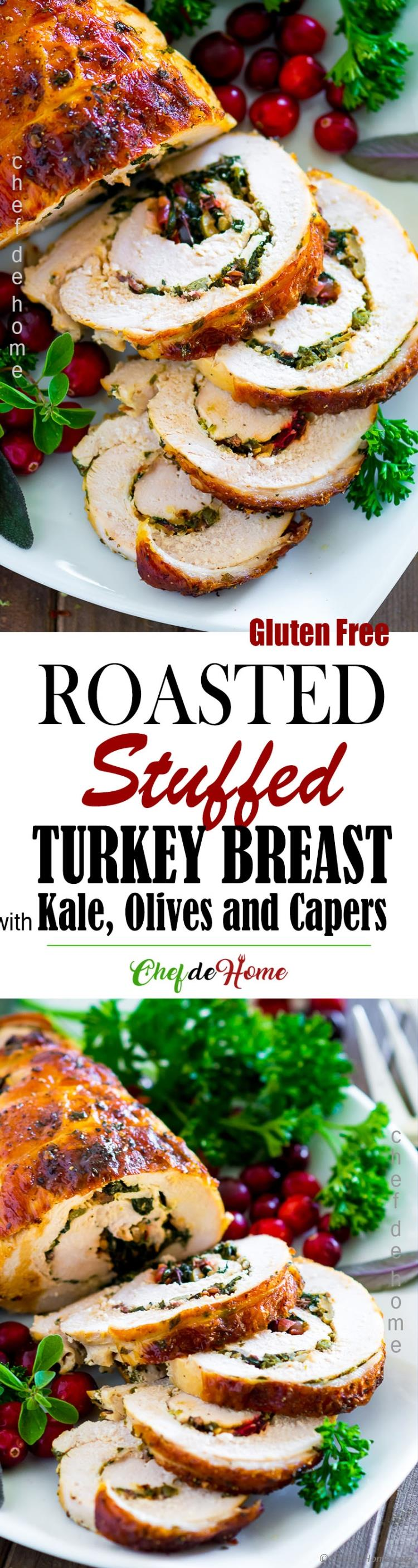 Juicy Stuffed Sliced Turkey Breast Long Picture