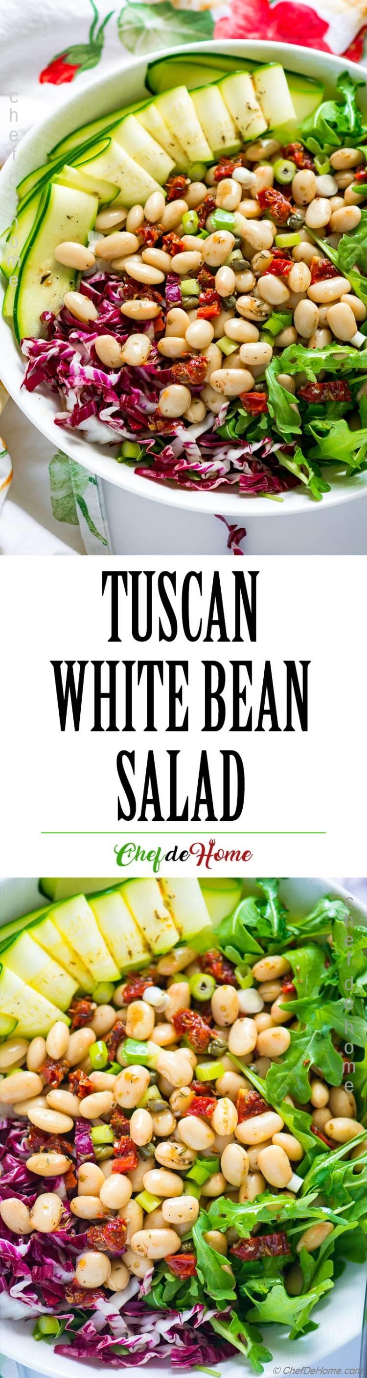 Easy and Healthy Tuscan Bean Salad with Arugula