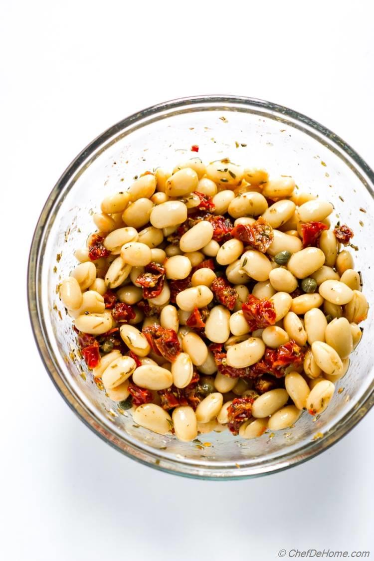Marinated Canllini White Beans for Tuscan Bean Salad