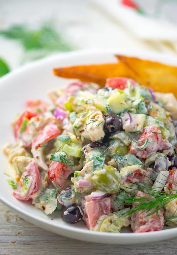Low carb Tzatziki Chicken Salad