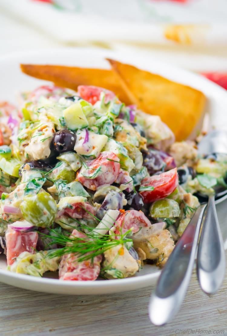 Creamy Tzatziki Chicken Salad