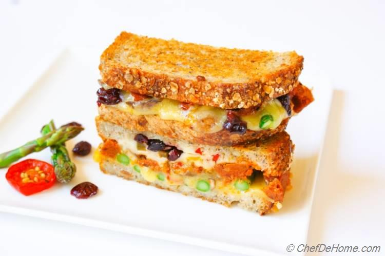 Asparagus and Jalapeno Grilled Cheese Sandwich