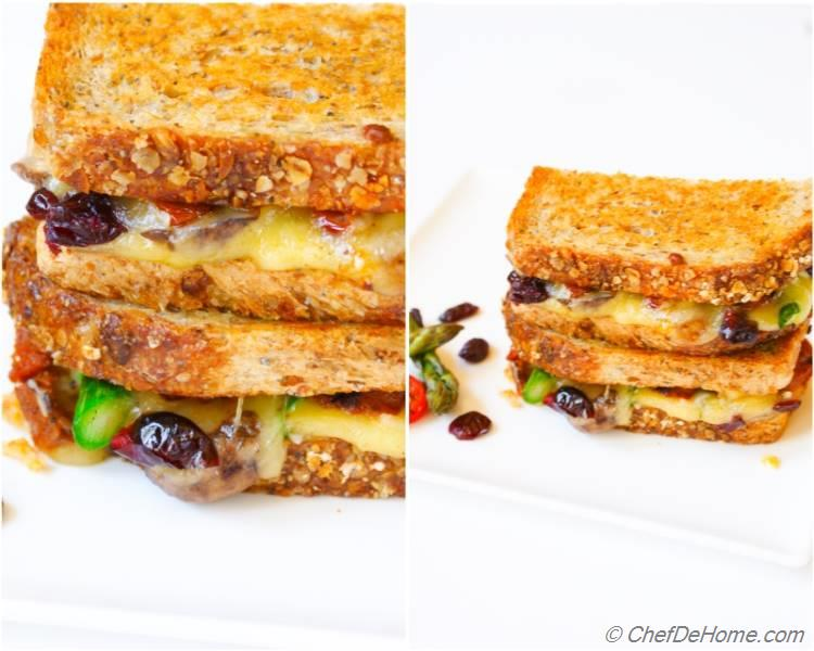 Grilled Cheese Sandwich with Wisconsin MonteAmore and Mild Cheddar
