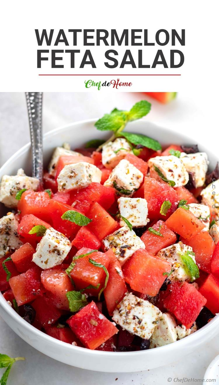 Tasty Watermelon Feta Salad with Mint