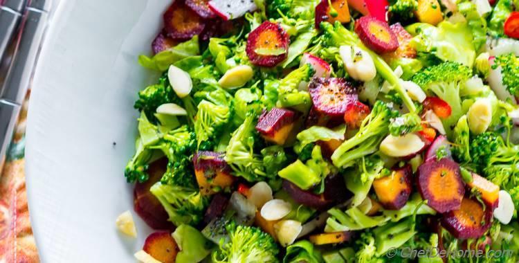 Winter Detox Healthy Broccoli Salad