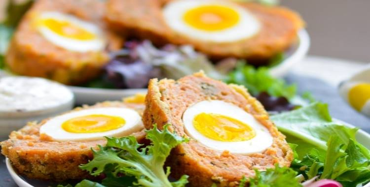 Giant Baked Chicken Scotch Eggs | Indian Nargisi Kofta