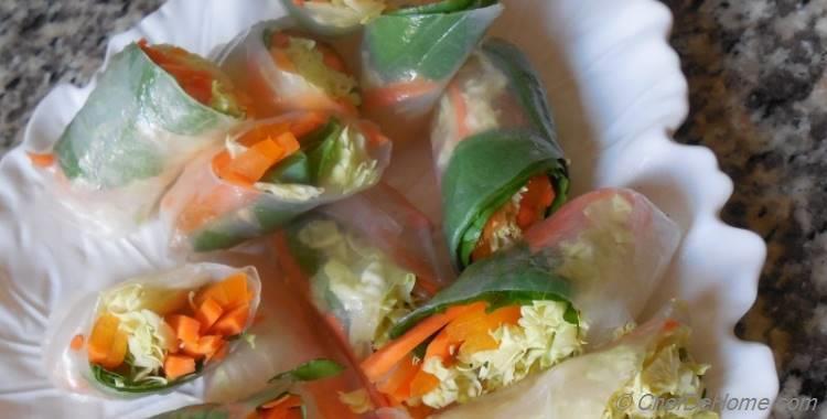 Fresh Carrot and Basil Rolls