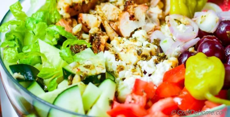 Greek Chicken Chopped Salad